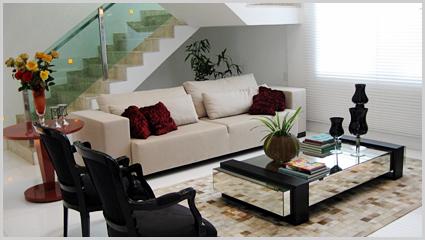 Como decorar uma sala pequena ou grande 60 ideias - Mesa de centro grande ...