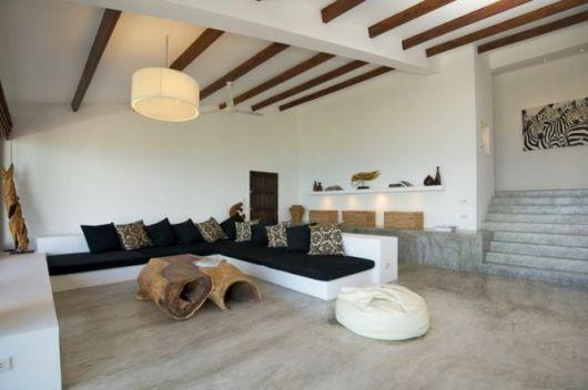 Sala Pequena Com Sofa De Alvenaria ~ Como decorar uma sala – pequena ou grande 60 ideias!