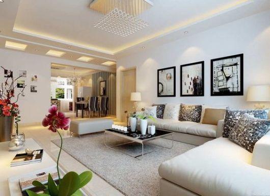 Como Decorar Sala Com Tv Na Parede ~ Como Decorar uma Sala Pequena ou Grande 60 ideias Sensacionais!