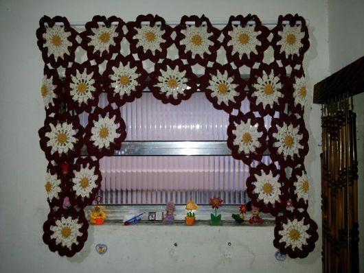 cortina colorida flores