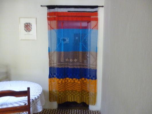 cortina colorida para porta