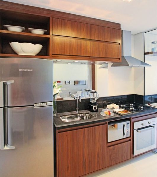 Aparador Mdf Cru ~ 70 Projetos de Cozinha Planejada Pequena Decoraç u00e3o, dicas