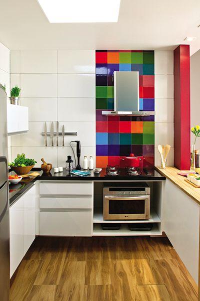 chão de madeira cozinha