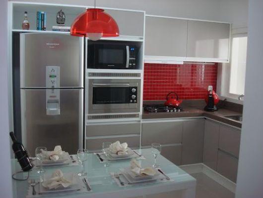 Adesivo Flor De Lis ~ 70 Projetos de Cozinha Planejada Pequena Decoraç u00e3o, dicas e preço!