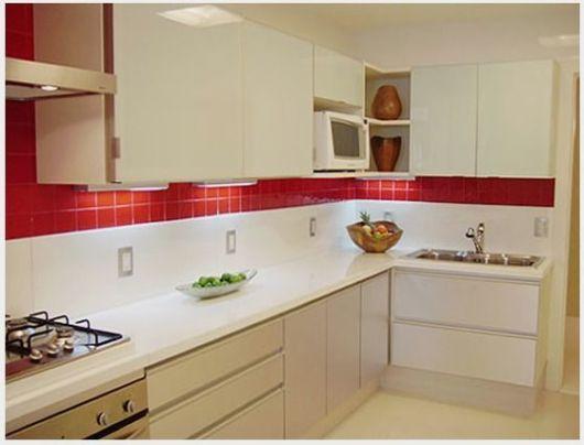 Cozinha planejada pequena projetos, dicas e preço! # Cozinha Planejada Pequena Com Vermelho