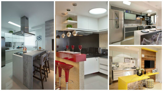 70 Projetos de Cozinha Planejada Pequena Decoração, dicas e preço! # Quanto Custa Um Armario De Cozinha Planejado Pequeno