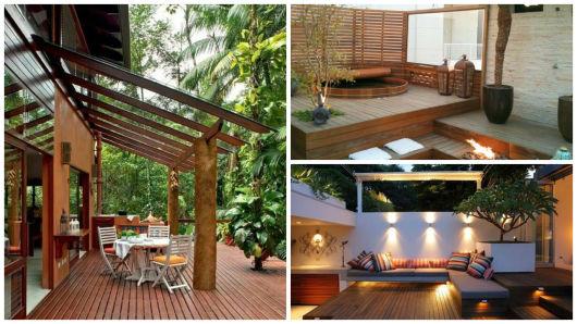 jardim deck de madeira:Deck de madeira: dicas, preços e 60 maneiras de usar!