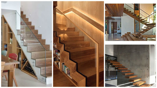 escada com vidro