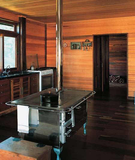 piso de madeira cozinha