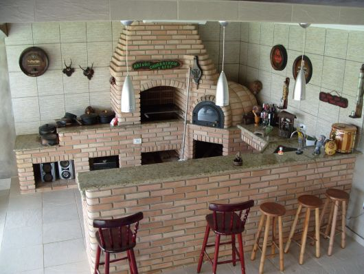 decoração área churrasqueira