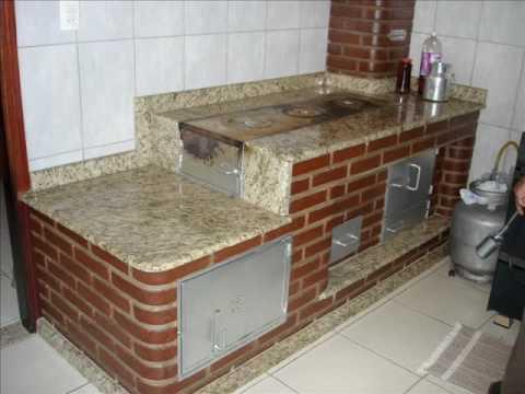 Fogão a lenha de tijolo