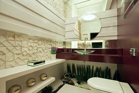 banheiro com jardim