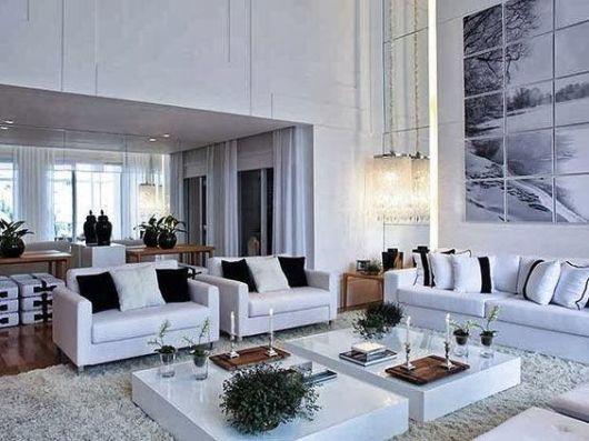 salas modernas bem clean