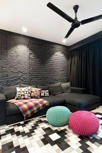 parede preta
