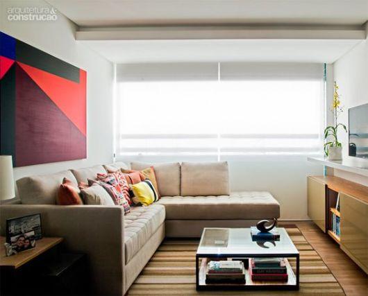 Sala De Tv Na Sacada ~ Sofá com chaise 55 modelos e ideias de como usar na sala!