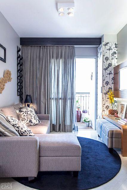 Sala Pequena Com Sofa Bege ~ decoração de sala pequena com sofa bege