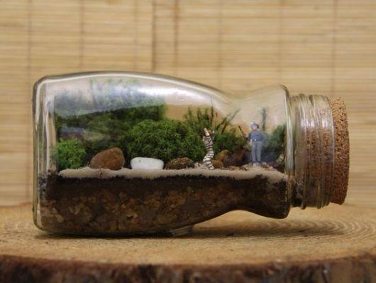 mini jardim em garrafas:Terrário: modelos, plantas e como fazer!