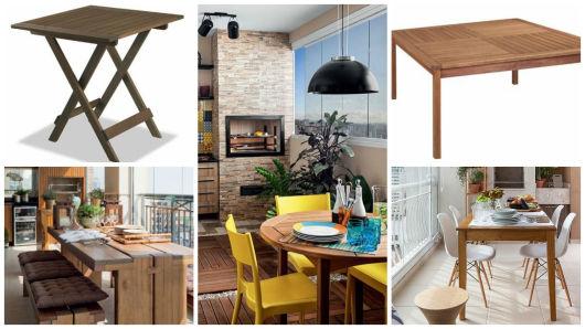 mesa para área churrasqueira