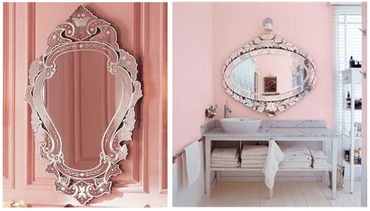 Espelho Veneziano no lavabo