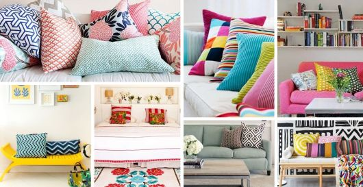 almofadas coloridas capa