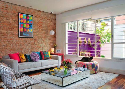 almofadas coloridas modelos