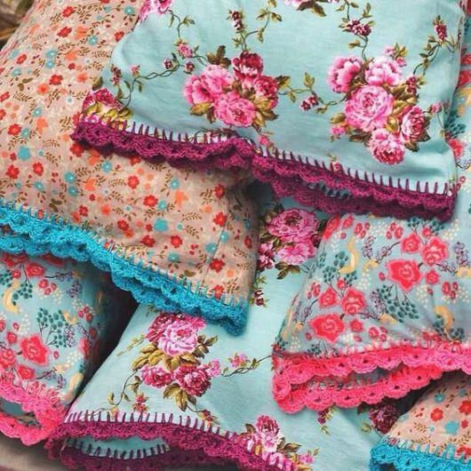almofadas de crochê barra