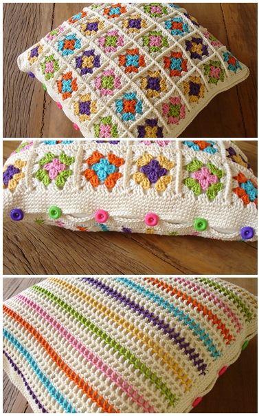 almofadas de crochê lindas