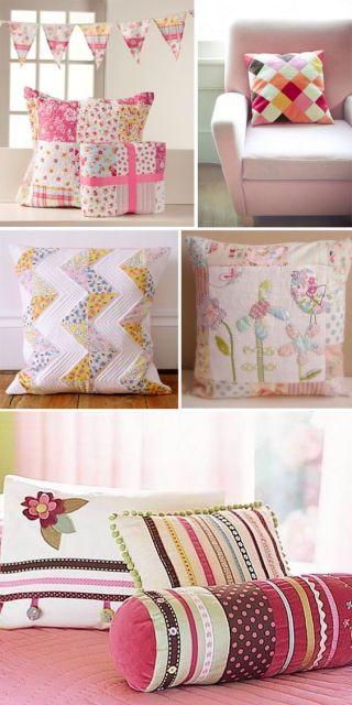 almofadas estampadas tecidos