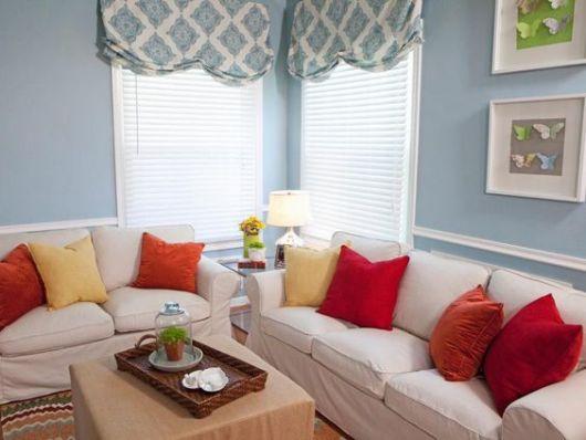 almofadas lisas sofá branco