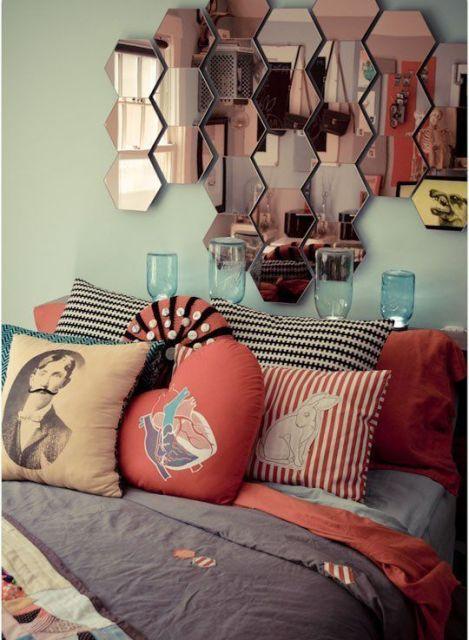 almofadas na cama formatos