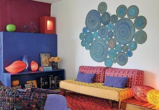 Aparador Sofa Em L ~ Artesanato com jornal 50 inspirações e passo a pas