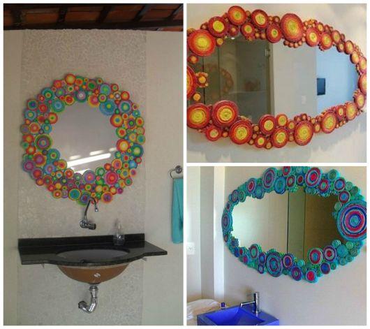 moldura de espelho decorada