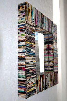 espelho decorado com revista