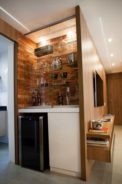 Barzinho para sala 60 dicas de como montar e decora es for Moviles modernos
