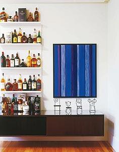 quadro azul decoração