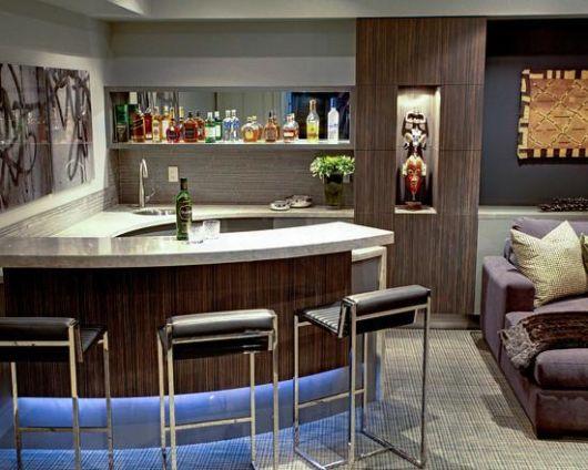 Barzinho para sala 60 dicas de como montar e decora es for Modern home bar designs pictures