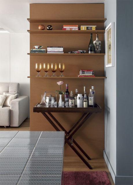 Sala Pequena Com Barzinho Moderno ~ Barzinho para Sala 60 Dicas de como montar e decorações!
