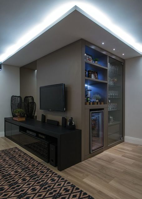 Sala Pequena Com Barzinho Moderno ~ Modelos de Barzinhos para Sala