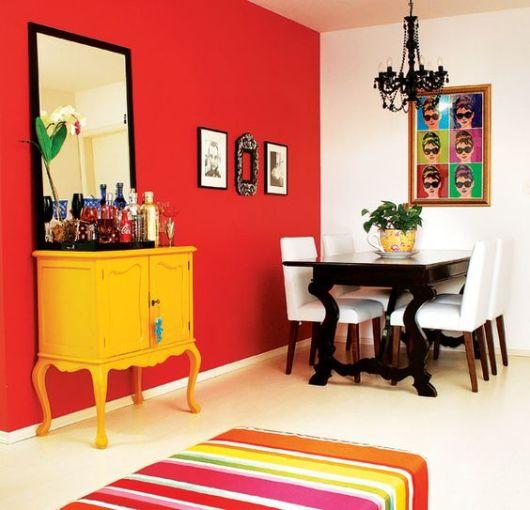 parede vermelha decoração
