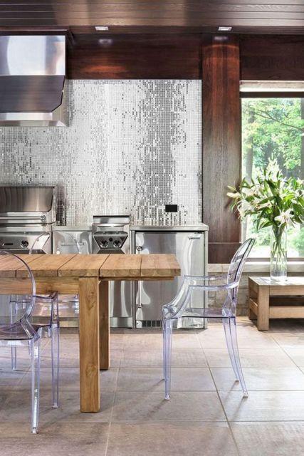 cozinha prateada