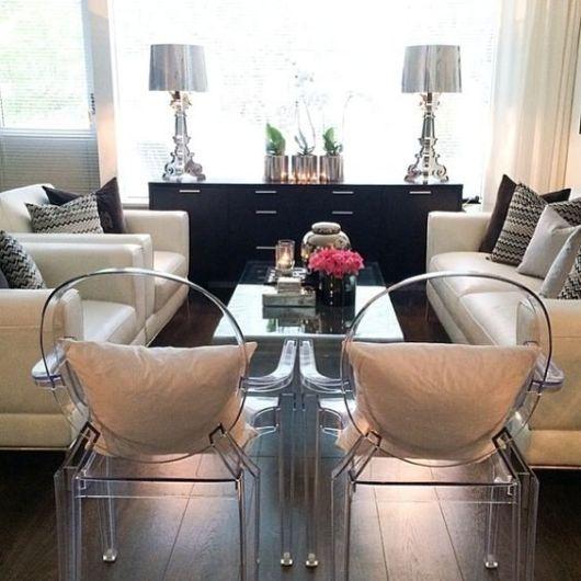 móveis de acrílico sala