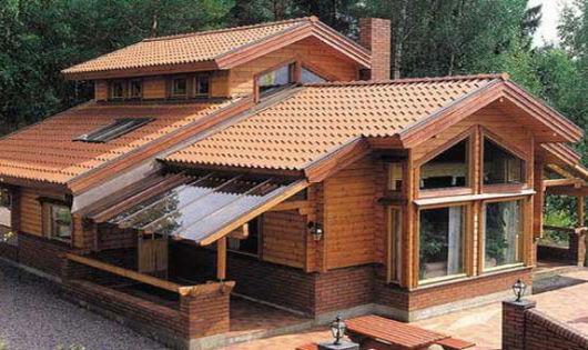 casas de madeira luxuosa
