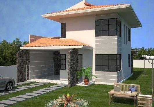 casas lindas simples sobrado