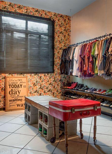 closet homem simples