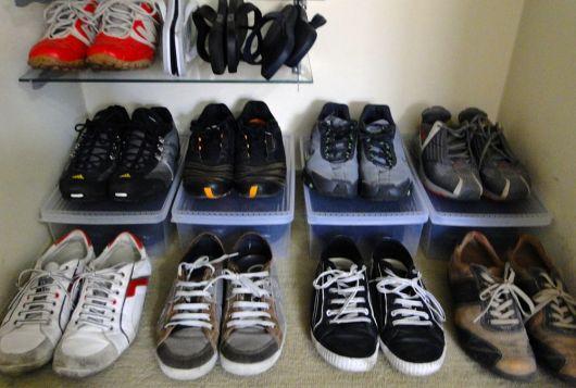maneira simples arrumar calçados