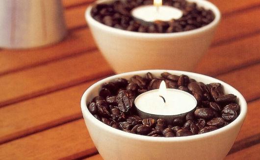 enfeites de mesa de jantar café