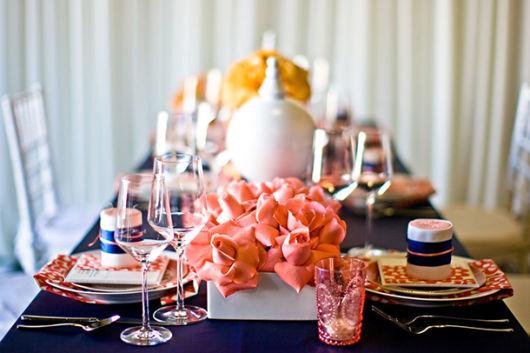 enfeites de mesa de jantar flores