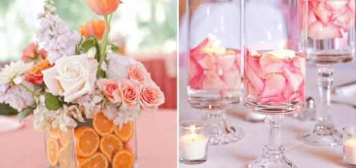 enfeites de mesa flor