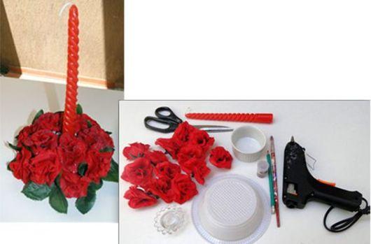 enfeites de mesa flores