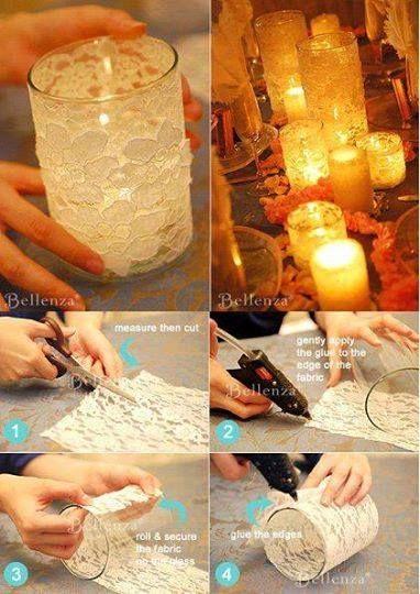 enfeites de mesa noivado e casamento copo com vela
